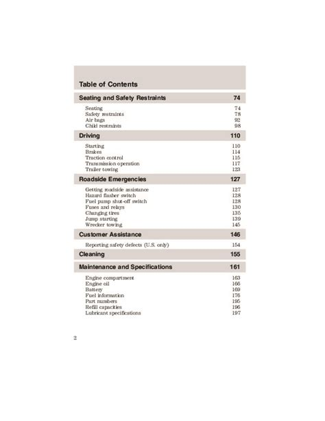 2003 Ford Taurus Owners Manual