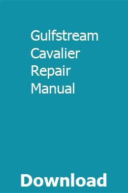 2003 Gulfstream Cavalier Owners Manual