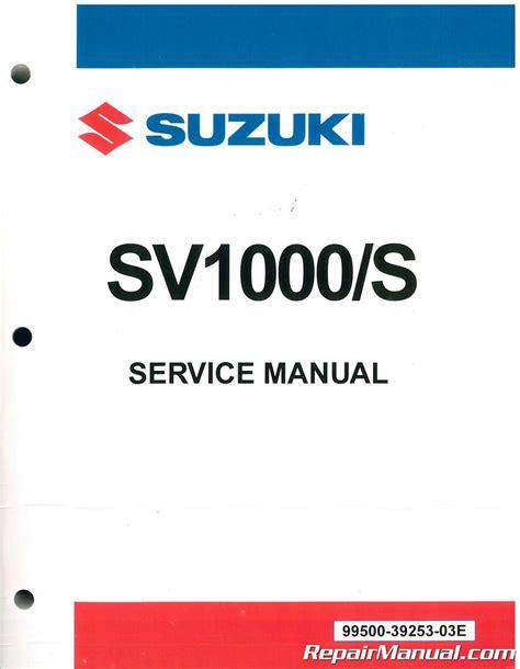 2003 Suzuki Sv1000s Workshop Service Repair Manual