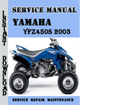 2003 Yamaha Yfz450s Service Repair Manual