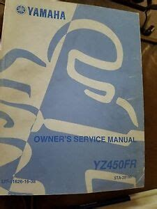 2003 Yamaha Yz450fr Factory Owners Service Manual Lit 11626 16 38
