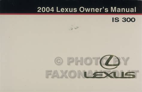 2004 Lexus Is300 Owner Manual