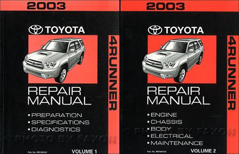 2004 Toyota 4runner Parts User Manual
