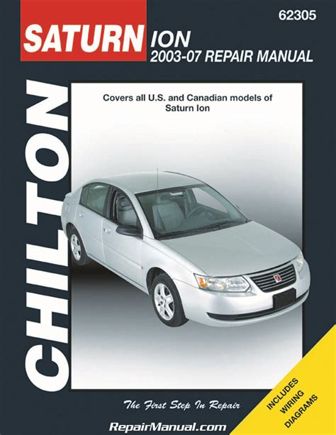 2004 2007 Saturn Ion Repair Manual
