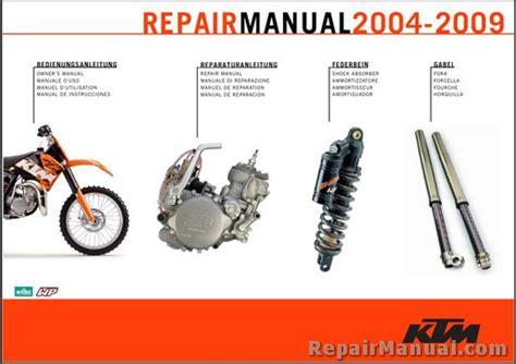 2004 2009 Ktm 85sx Xc 105sx Xc Repair Manual On Cd Rom 3206049