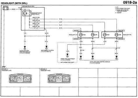 2004 Mazda 6 Headlight Wiring Diagram
