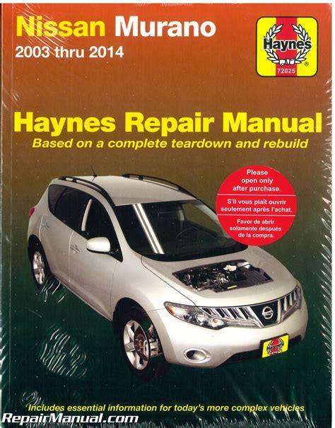 2004 Nissan Murano Workshop Service Repair Manual