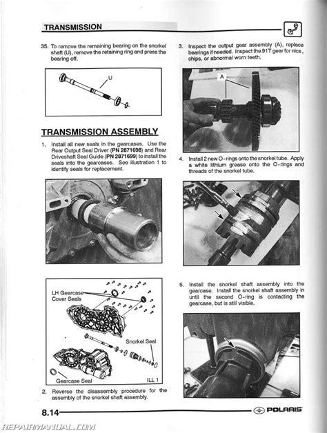 2004 Polaris Sportsman 500 Ho Repair Manual