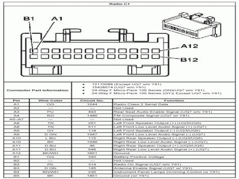 2004 Silverado Stereo Wiring Diagram