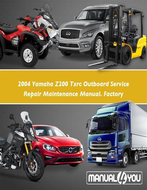 2004 Yamaha Lz300 Txrc Outboard Service Repair Maintenance Manual Factory Service Manual