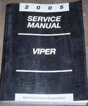 2005 Dodge Viper Owner Manual