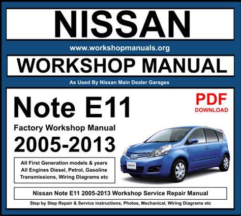 2005 2013 Note Tone E11 Service And Repair Manual