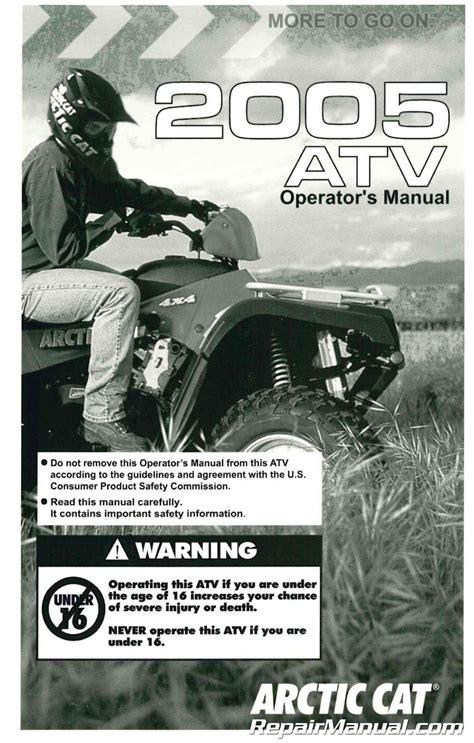 2005 Arctic Cat 90 Atv Factory Owners Manual 2257 164