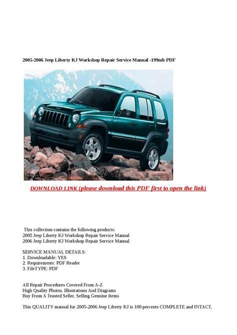 2005 Jeep Liberty Kj Workshop Service Manual