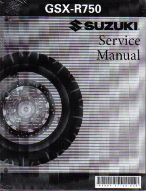 2005 Suzuki Gsx R750 Factory Service Workshop Manual