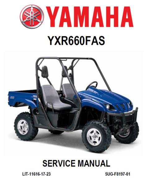 2005 Yamaha Rhino 660 Repair Manual