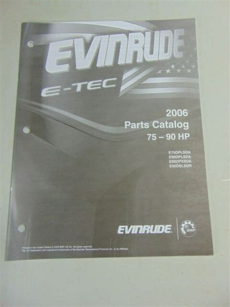 2006 Evinrude Outboard Motor E Tec 75 90 Hp Parts Manual 971
