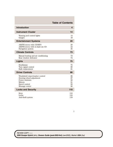 2006 Ford Escape Hybrid Repair Manual Torrent