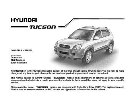 2006 Hyundia Tucson Owner Manual