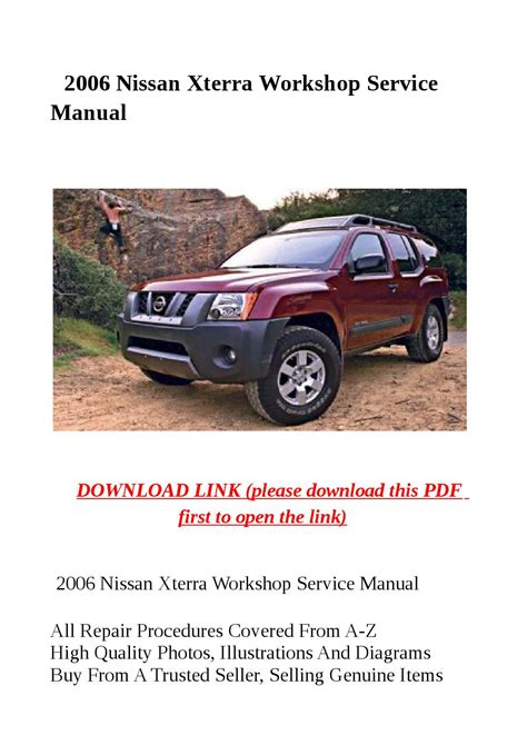 2006 Nissan Xterra Service Repair Manual 06