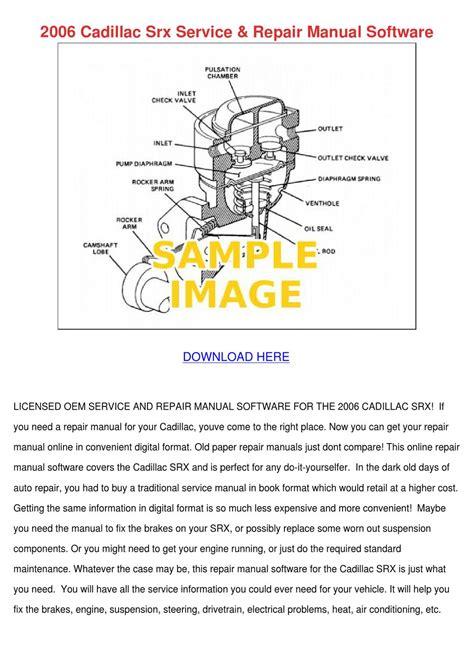 2006 Srx Service And Repair Manual