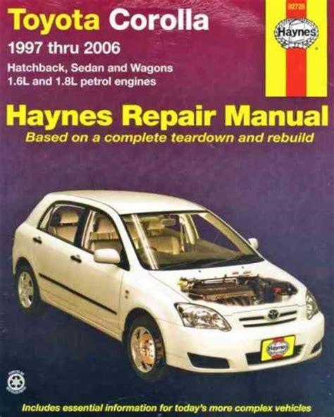 2006 Toyota Corolla Repair Manual
