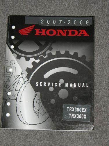 2007 2009 Honda Trx300ex X Sportrax Factory Service Manual 61hm362