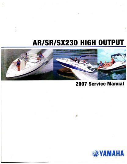 2007 2009 Yamaha Sxt1100 Sport Boat Factory Service Manual Lit 18616 03 01