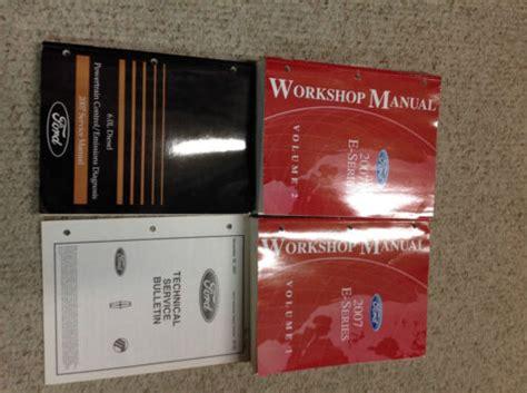 2007 Ford Econoline E Series Van E150 250 350 Shop Repair Service Manual Set Oem W 60 Pced