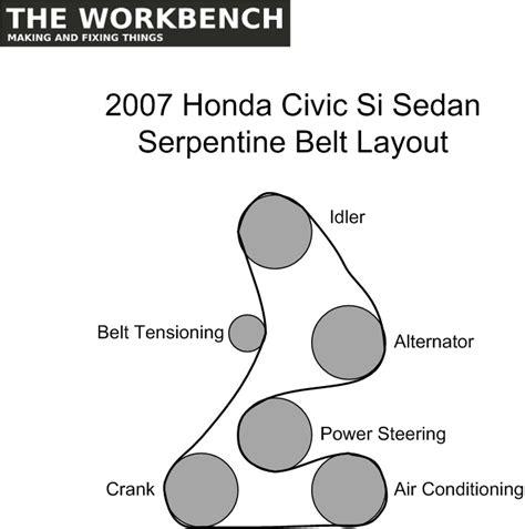 2007 Honda Civic Si Belt Diagram