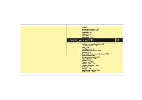 2007 Kia Sorento Owners Manual