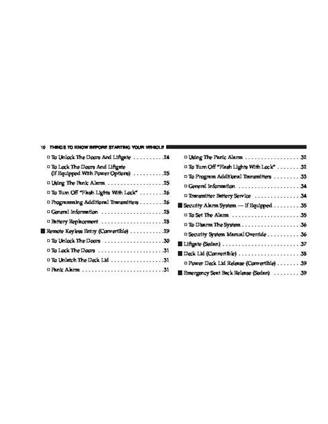 2007 Pt Cruiser Manual