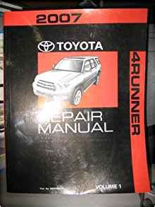 2007 Toyota 4runner Repair Manual Volumes 12 And 4 Only Of Four