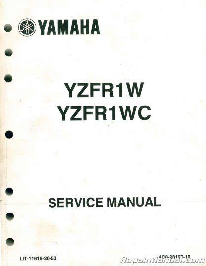 2007 Yamaha Yzfr1w Service Repair Manual