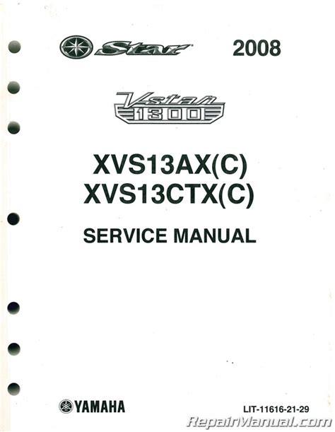 2008 2009 Yamaha Xvs1300 V Star Factory Service Manual Lit 11616 21 29