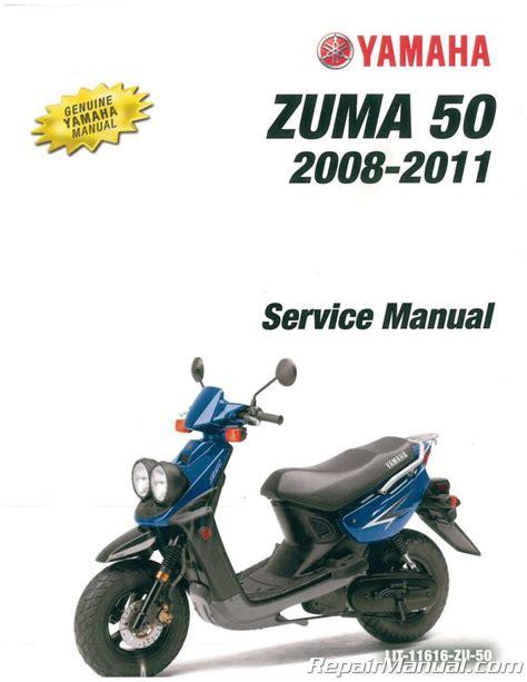 2008 2010 Yamaha Yw50 Zuma Scooter Factory Service Manual Lit 11616 Zu 50
