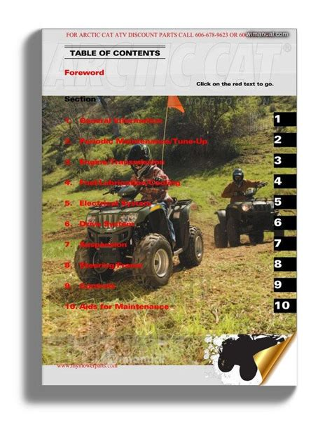 2008 Arctic Cat Dvx 50 Utility Factory Service Manual