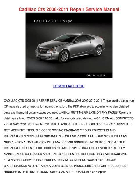 2008 Cadillac Cts Workshop Manual