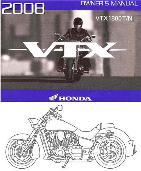 2008 Honda Vtx1800t Owner Manual