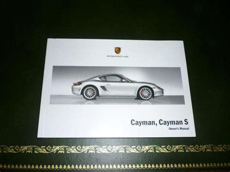 2008 Porsche Cayman Owners Manual