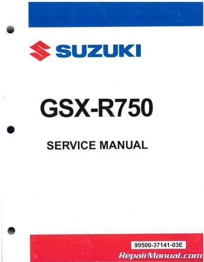 2008 Suzuki Gsx R750 Factory Service Workshop Manual