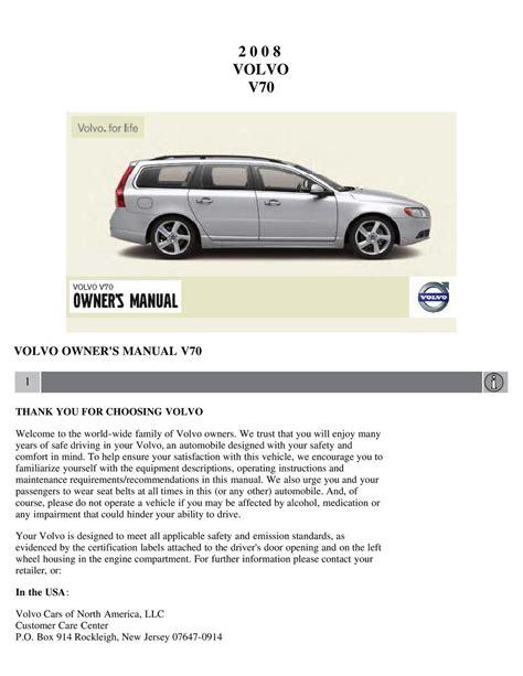 2008 Volvo Owner Manual