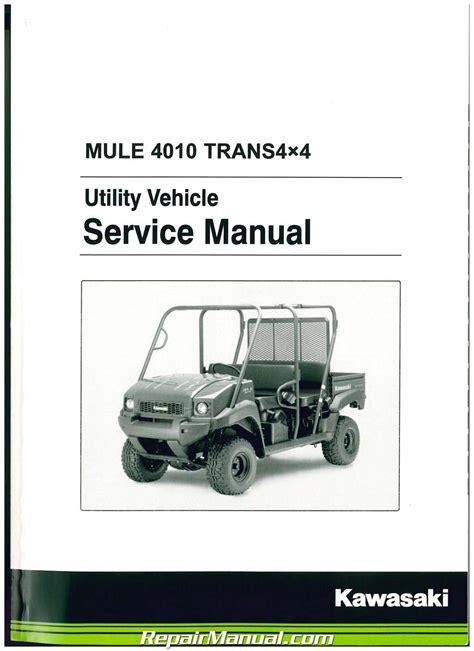 2009 Kawasaki Mule 4010 Kaf620r9f Factory Service Workshop Manual