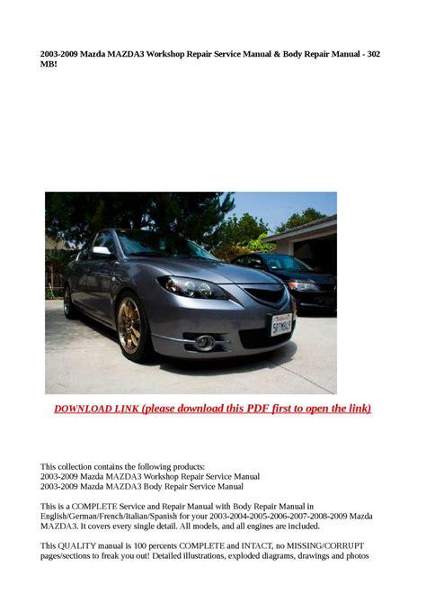 2009 Mazda3 Repair Manual