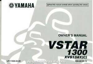 2009 Yamaha R6s Factory Owners Manual Lit 11626 22 37