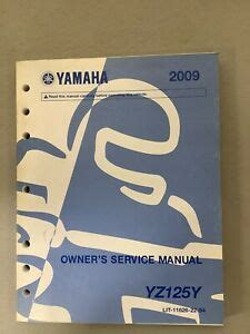 2009 Yamaha Yz125 Factory Owners Service Manual Lit 11626 22 54