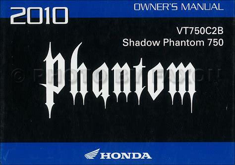 2010 Honda Shadow Phantom Owners Manual