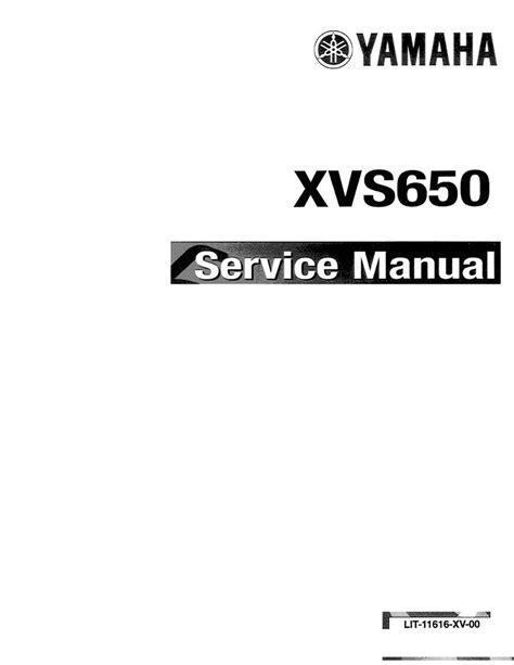 2010 Yamaha Xvs 650 Service Manual