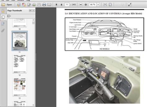 2011 Argo 700 Hd Avenger Owner Manual