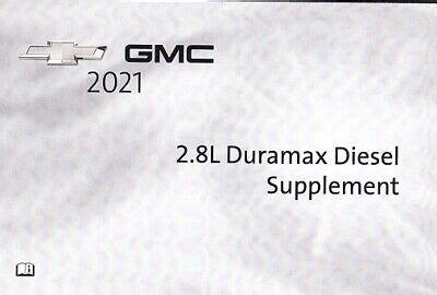 2011 Duramax Diesel Owners Manual Supplement